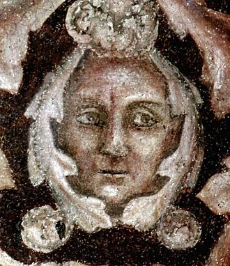 Giotto - Possible image of Giotto from the Peruzzi Chapel (digitally restored)