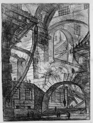 Giovanni Battista Piranesi - Le Carceri d'Invenzione - First Edition - 1750 - 06 - The Smoking Fire.jpg