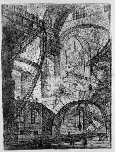 Giovanni Battista Piranesi - Le Carceri d'Invenzione - First Edition - 1750 - 06 - The Smoking Fire.jpg