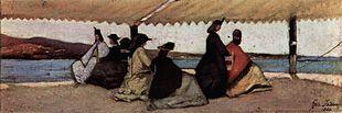 I bagni Palmieri di Livorno in un dipinto di Fattori