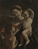 Giovanni Lanfranco - Madonna and Child with the Infant Saint John the Baptist - 84.PA.683 - J. Paul Getty Museum.jpg