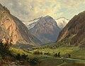 Giovanni Varrone - Das Kötschachthal mit dem Böcksteinkogel mit der Himmelswand bei Wild, Bad Gastein.jpg