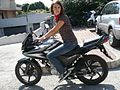 Girl on Honda CBF 125 - 03.jpg