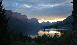 The Sunset in Glacier National Park, Montana.