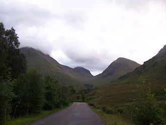 Glencoe, Highland - A view of Glencoe