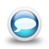 Glossy 3d blue chat.png