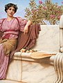 Godward-Tranquillity-1914-detail right.jpg