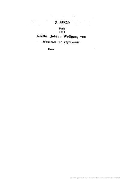 File:Goethe - Maximes et Réflexions, 1842, trad. Sklower.djvu