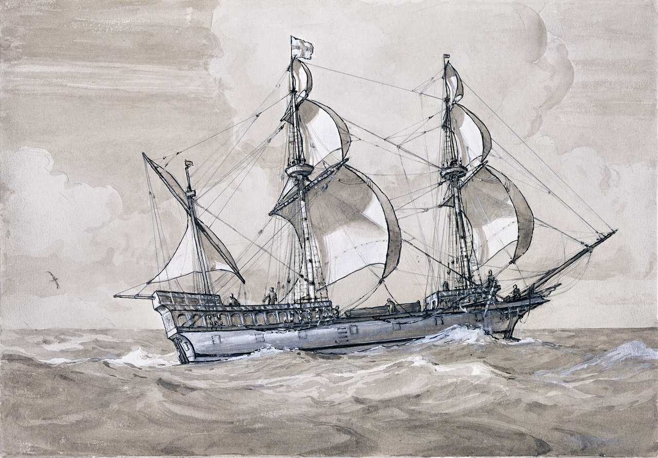 Raleigh's ship The Golden Hind