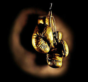 Golden Gloves - A pair of hanging golden boxing gloves is an iconic Golden Gloves image dating back to the late 1920s.