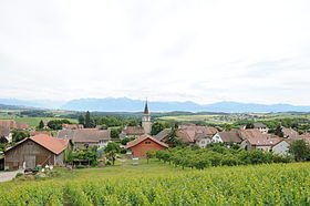 Vue du village de Gollion