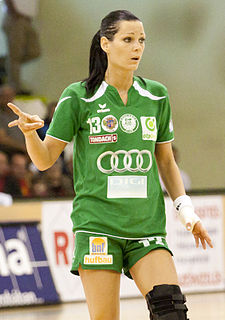 Anita Görbicz Hungarian female handball player