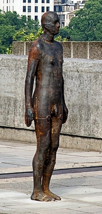 Event Horizon (sculpture) - A closer look at one of the figures, which were cast from Gormley's own body