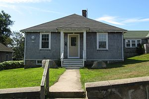 Gosnold, Massachusetts - Gosnold Town Hall in the village of Cuttyhunk