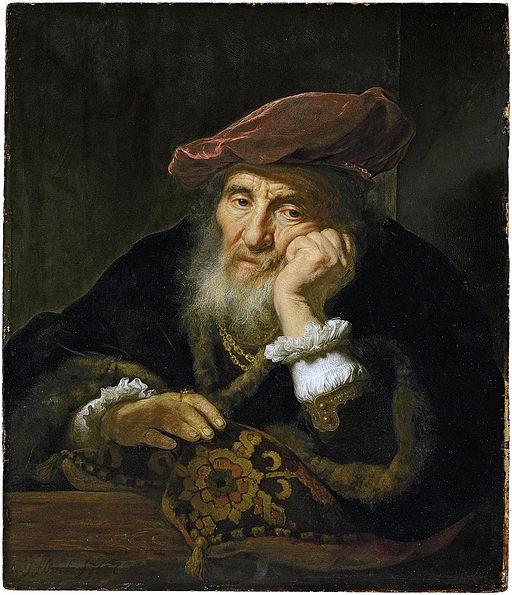 Govaert-Flinck,-An-old-man-at-a-casement