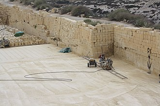 Limestone - Cutting limestone blocks at a quarry in Gozo, Malta
