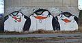 Graffiti penguins, Steinitzsteg, Vienna 02.jpg