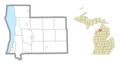 Grand Traverse Indian Reservation (Antrim), MI location.png