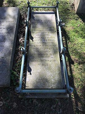John Mallet - Mallet's gravestone at the University of Virginia Cemetery in Charlottesville, Virginia.