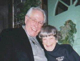 "Mike Gravel - Mike Gravel with campaign finance reform activist and friend Ethel ""Granny D"" Haddock"