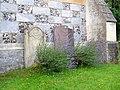 Gravestones and lavender, Christ Church - geograph.org.uk - 1429678.jpg