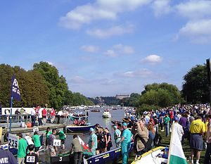 Great River Race - Preparing for the start at Ham (2008)