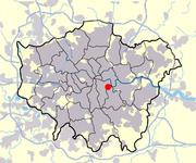 Localisation de New Cross à Londres