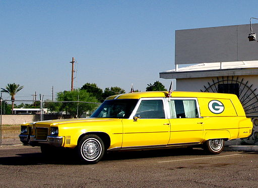 Green Bay Packer hearse
