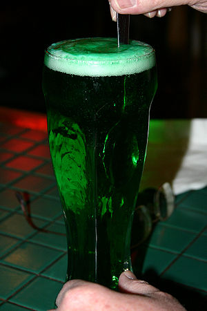 Green beer on St. Patrick