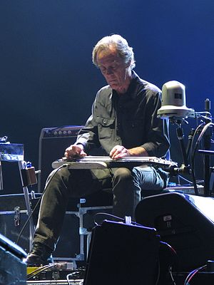 Greg Leisz - Leisz playing lap steel in Eric Clapton's band, Charlotte, North Carolina, April 2, 2013