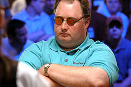 Raymer tijdens de World Series of Poker 2005