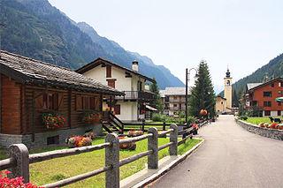 Gressoney-La-Trinité Comune in Aosta Valley, Italy