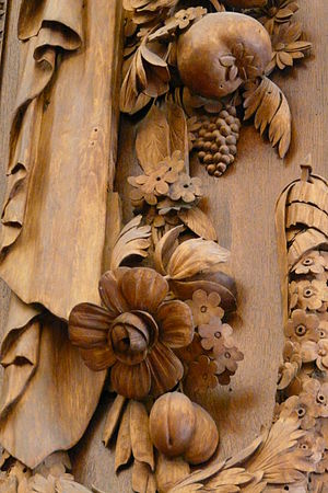 Grinling Gibbons - Detail from Hampton Court Palace