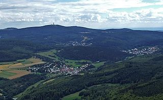 Taunus low mountain range in Germany