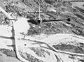 Grumman F9F-2 Panther of VF-71 attacking bridge in Korea, in November 1952 (80-G-639948).jpg