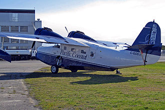 Pacific Coastal Airlines - Grumman G-21 Goose of Pacific Coastal Airlines now operated by new Seaplane Division Wilderness Seaplanes Ltd. at Vancouver Airport in 2008