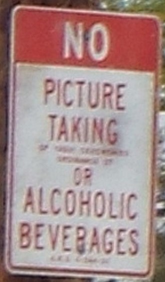 Guadalupe, Arizona - Image: Guadalupe No Pictures sign