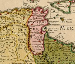 The Beylik of Tunis in 1707