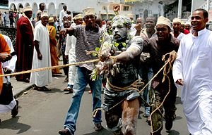 Decolonization - Comorians protest against Mayotte referendum on becoming an overseas department of France, 2009