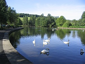 Tweedbank - Image: Gunknowe Loch, Tweedbank