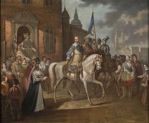 Gustav II Adolf of Sweden Bids Farewell to his Consort, Maria Eleonora i Erfurt.