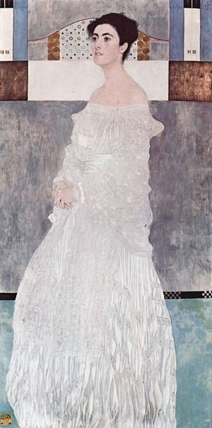 Margaret Stonborough-Wittgenstein - Margarethe Stonborough-Wittgenstein painted by Klimt for her wedding portrait in 1905
