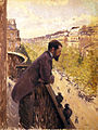Gustave Caillebotte, c.1880, L'homme au balcon, Man on a Balcony, oil on canvas, 116 x 97 cm, private collection.jpg
