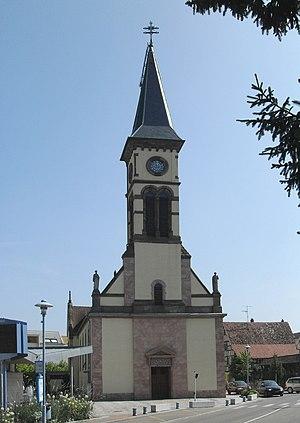 Hésingue - Image: Hésingue, Eglise Saint Laurent 2