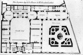 Hôtel Lambert - Floor plan of Louis Le Vau's Hôtel Lambert.