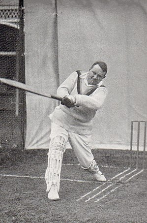 Herbie Hewett - Hewett demonstrating an on drive, photographed by George Beldham in 1905.