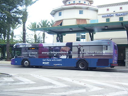 A HARTLine bus at the Marion Transit Center HART 25XX bus.JPG