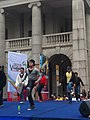 HK 中環 Central 遮打道 Chater Road 香港 前立法會大樓 former Legco Building Sunday morning 菲律賓男生 Filipino dancers Jan-2012 Ip4 07.jpg