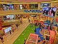 HK 新蒲崗 SPK San Po Kong 譽 港灣 Latitude mall interior night Mar-2014 TV set.JPG