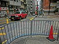 HK Sai Ying Pun 西營盤 Western Street fence banner 李志恆 Lee Chi Hang Sidney view Third Street April 2013.JPG